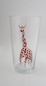 Giraffe on a vase/pint glass