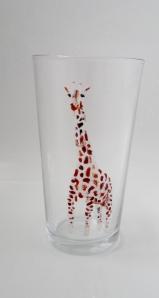 Giraffe on a vase/pint glass