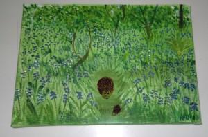 Bluebell Wood hedgehog w