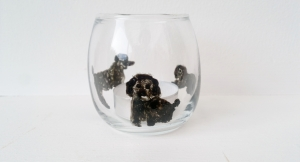 Poodle tealight holder 2