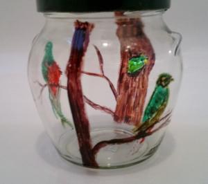 Quetzal jar