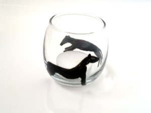 Whippet candle holder