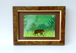 Wolf on the Prowl ACEO