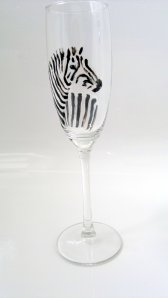 Zebra Champagne Glass