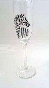 Zebra Champagne Glass