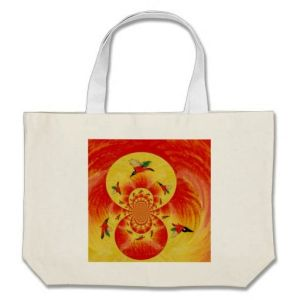 Kingfisher sunburst bag