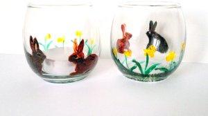 Daffodil Rabbit Spring Tealight Holders