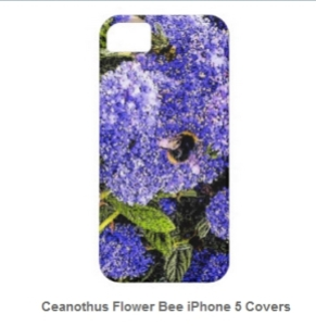Ceanothus bee mobile cover