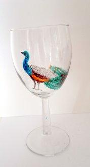 Peacock glass