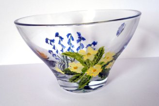 Primroses butterfly bowl May 2015