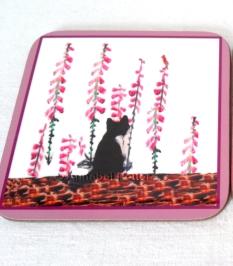 cat foxglove coaster w