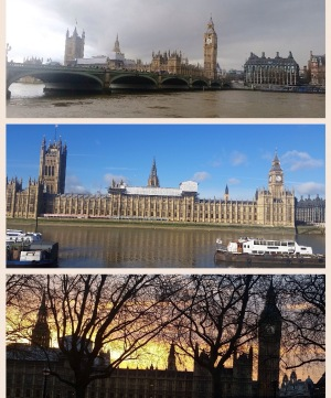 Westminster photographs in different weather conditions