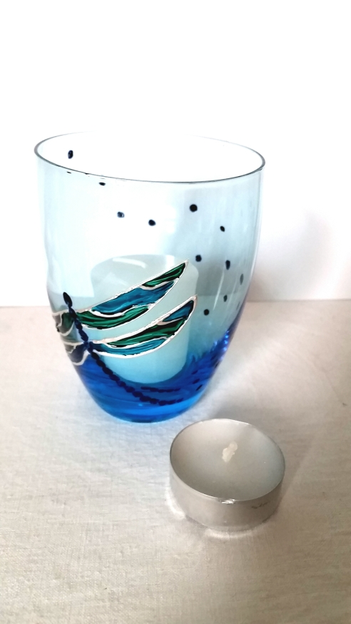 Dragonfly candle holder