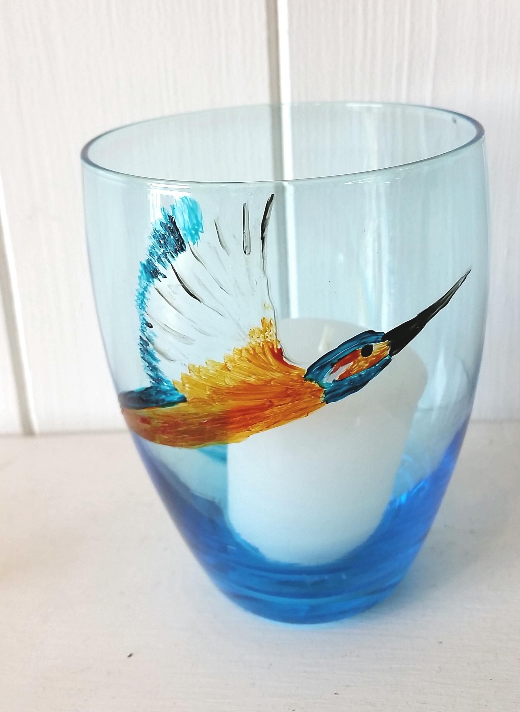 kingfisher candle holder
