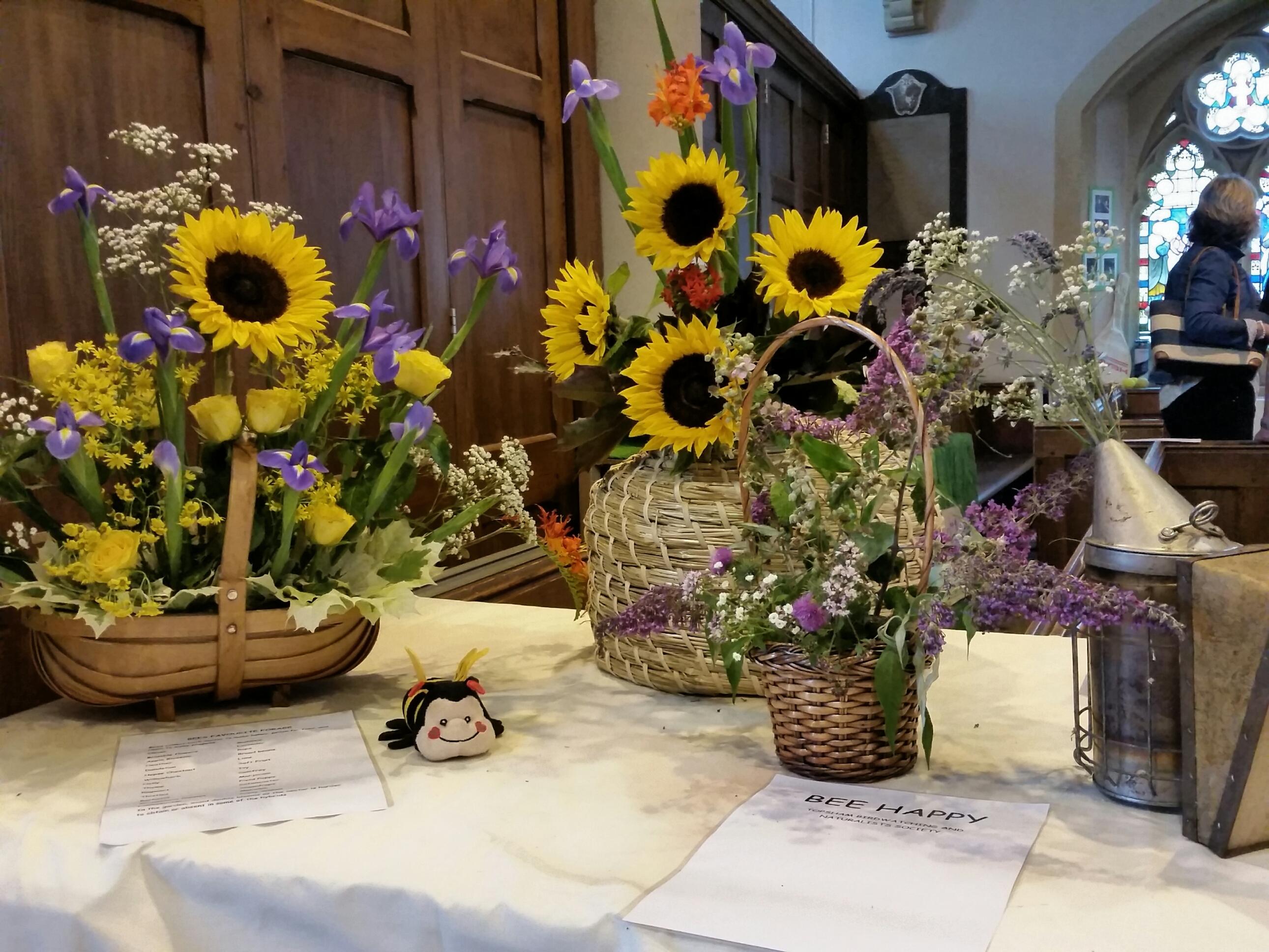 Topsham flower festival bee friendly plants