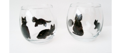 Black Cat Tealight Holders